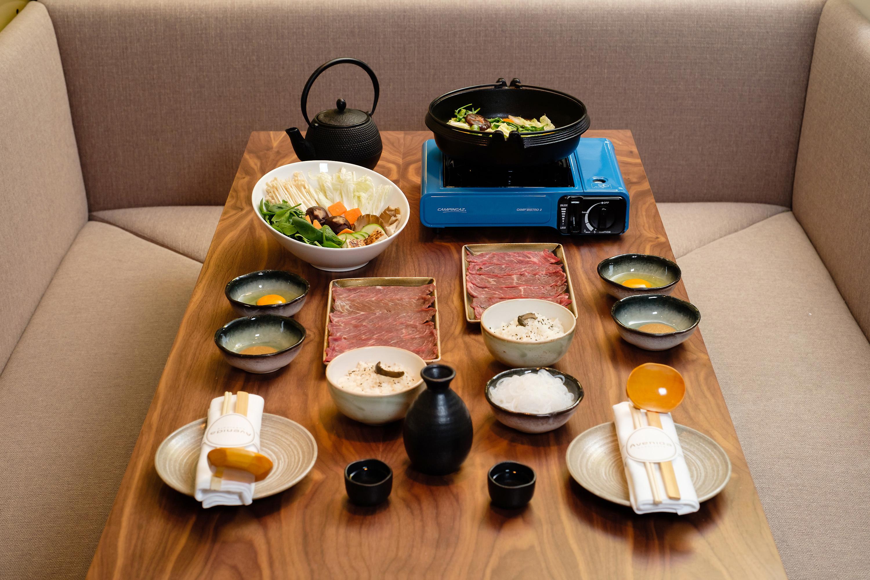 Menu de almoço do Avenida SushiCafé