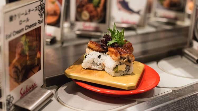 Food at Sakura Kaiten Sushi Train