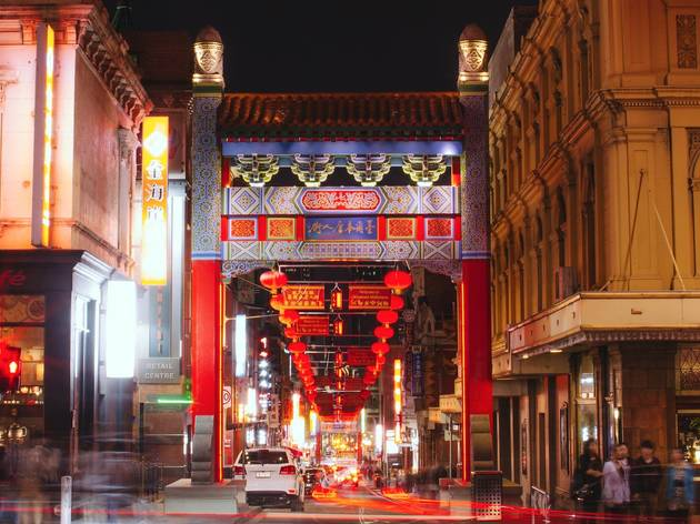 Night time at Chinatown Melbourne CBD