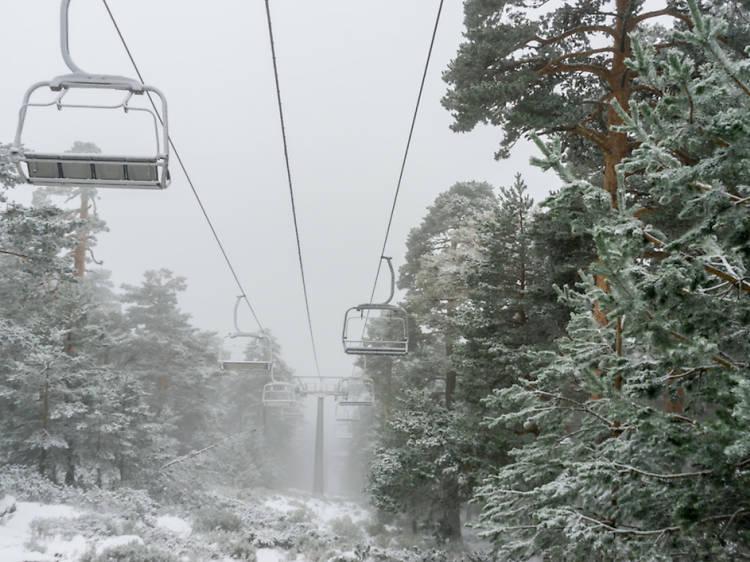 Navacerrada en la temporada de esquí