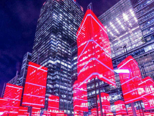In pictures: the Winter Lights Festival is making Canary Wharf sparkle
