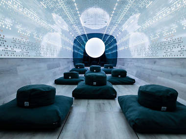 Take a free meditation class inside a tricked-out bus in NYC next week
