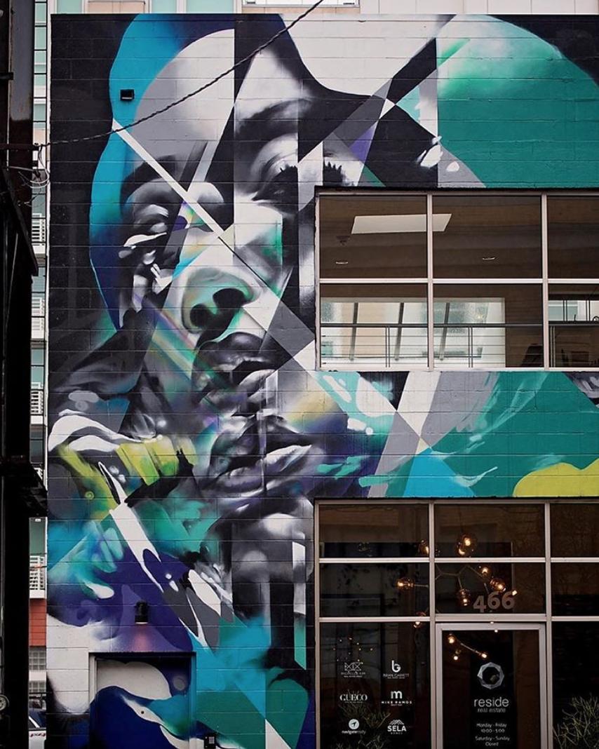 HUEMAN mural in SoMa