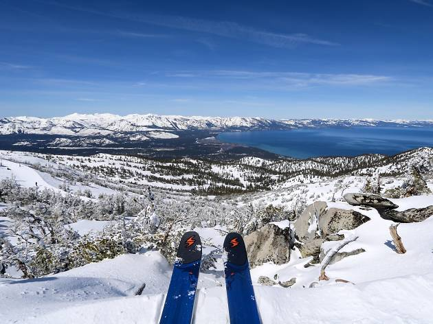 Skiing Heavenly Resort at Lake Tahoe