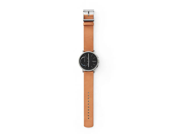Skagen Hybrid Smartwatch – Hagen Titanium and Tan Leather