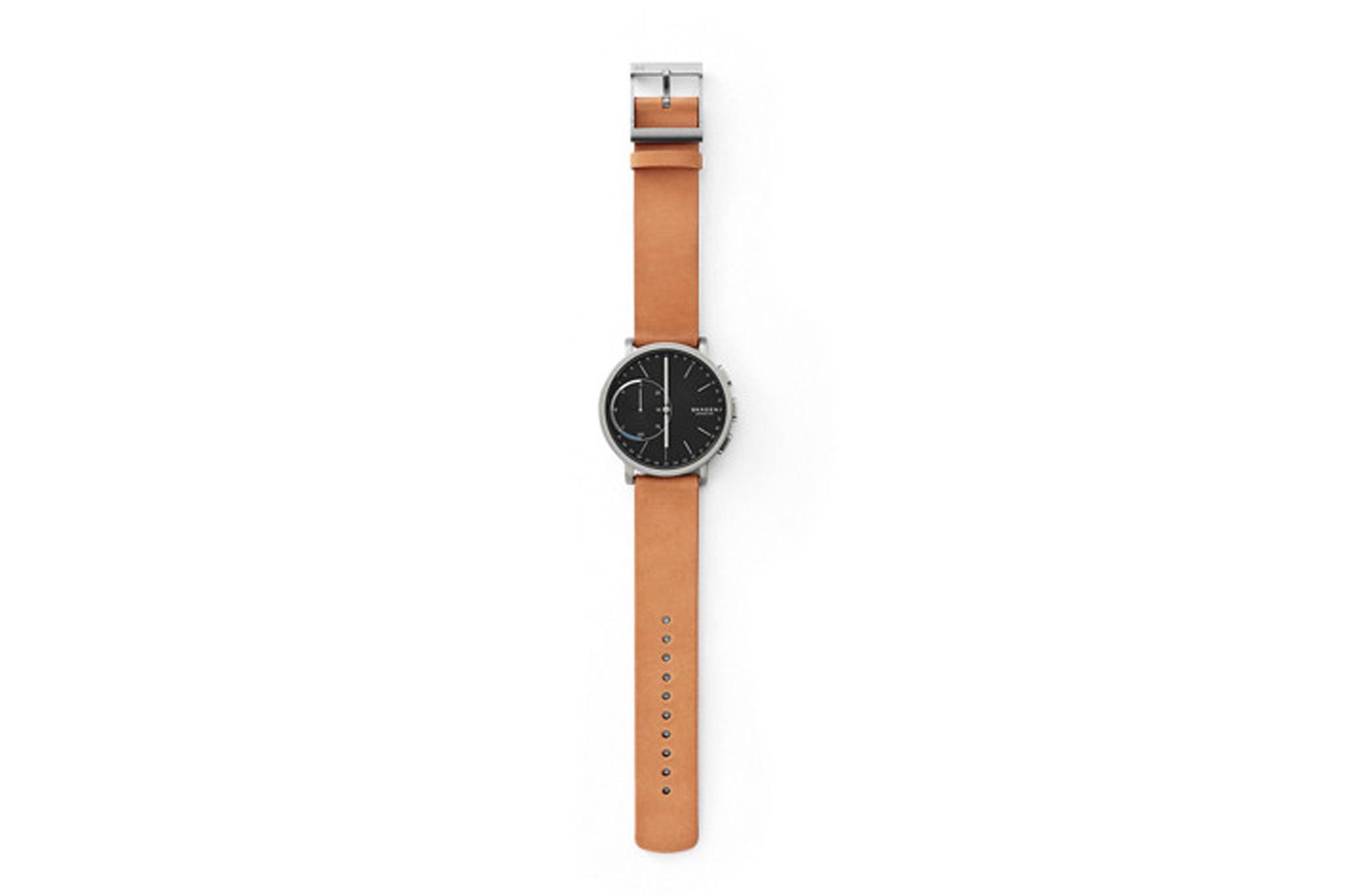 Skagen Hybrid Smartwatch – Hagen Titanium and Tan Leather