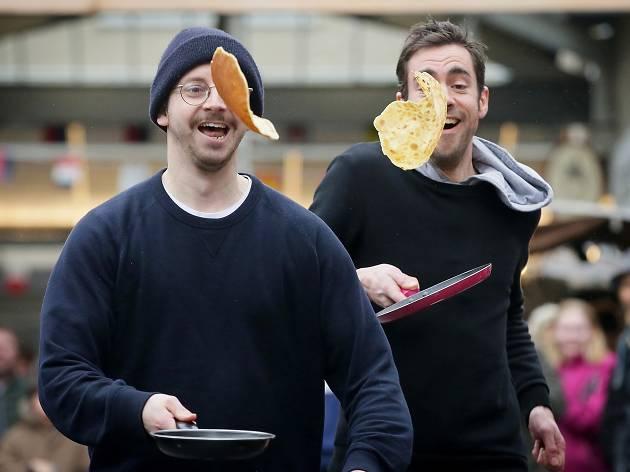 Greenwich Market Pancake Race