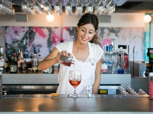 Pouring a drink at Bondi Beach Public Bar