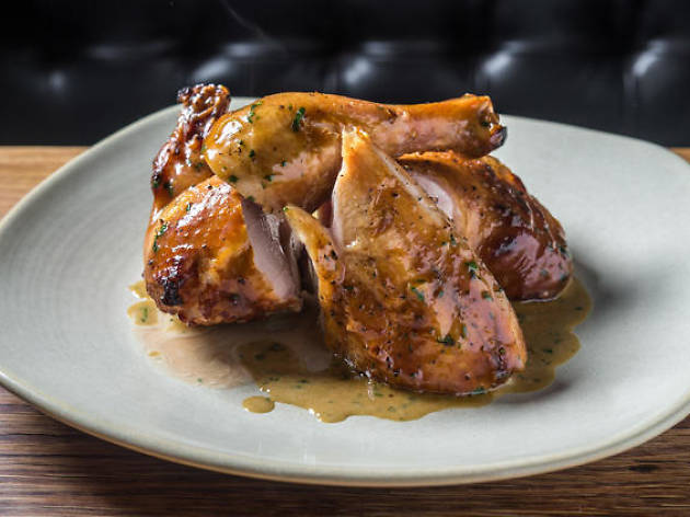 Chicken with tarragon butter at Jams