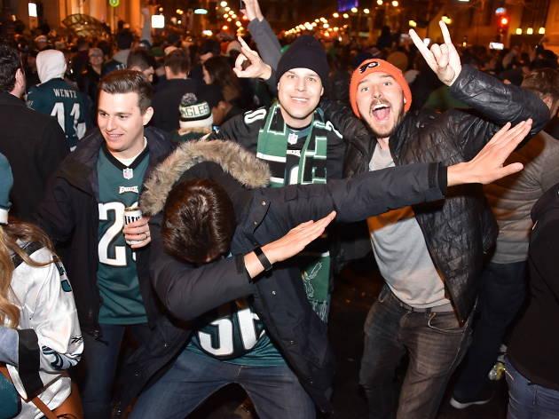 Philadelphia Eagles celebrate NFC Championship win on Broad Street