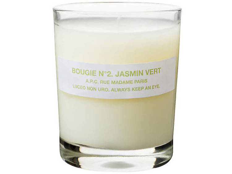 Jasmine scented candle from the A.P.C. Store
