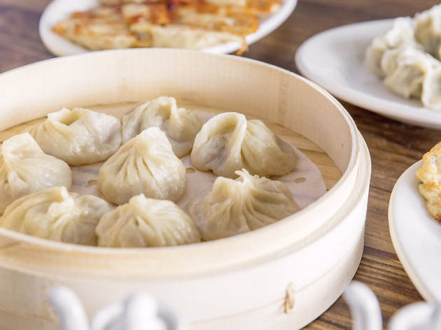 Soup dumplings from Mason's Dumpling Shop