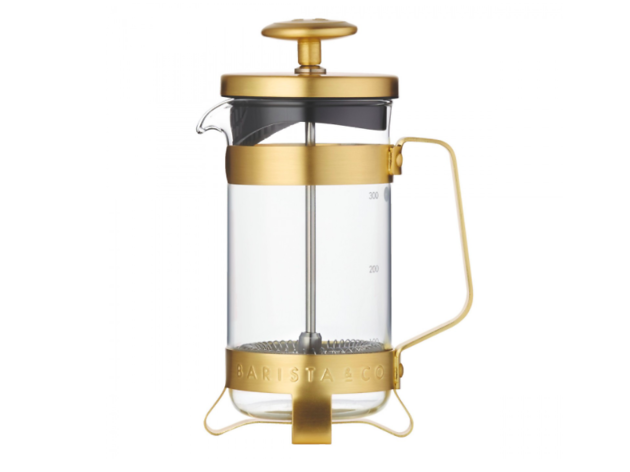 Barista & Co three-cup gold cafetiere