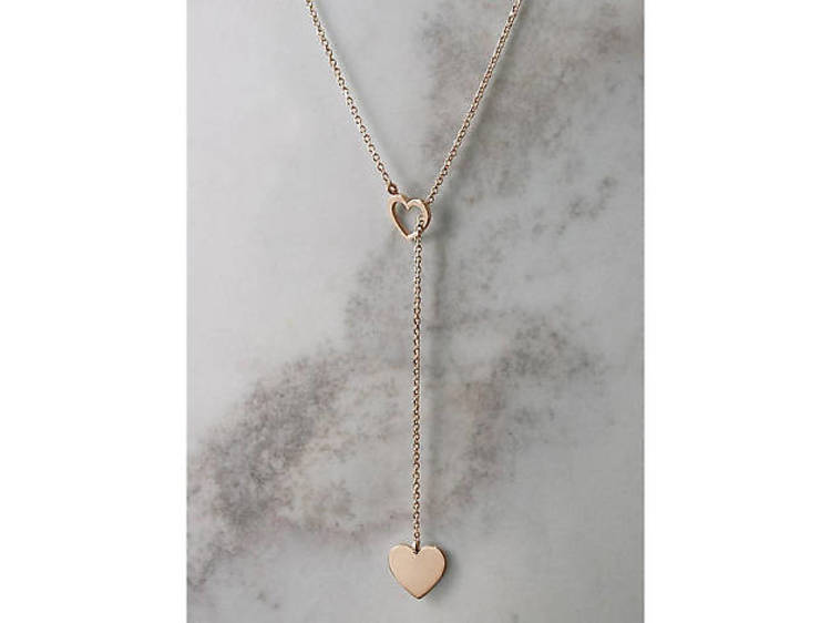 Gold heart lariat from TalesInGold