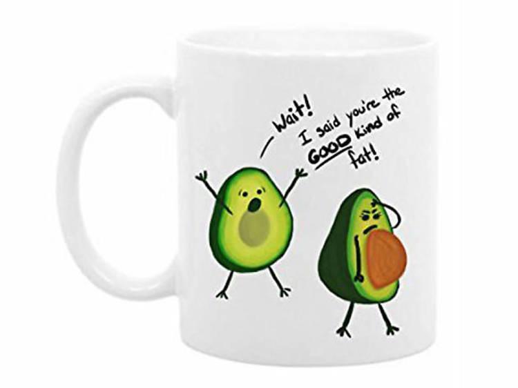 Funny avocado mug from The Coffee Corner