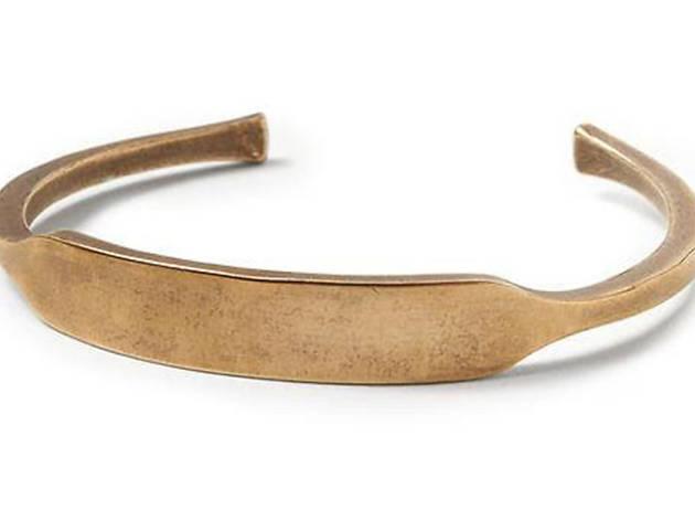 Brass ID cuff from Banana Republic