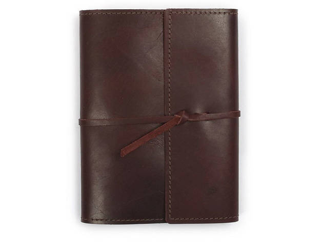 Writers log large refillable leather notebook from Rustico