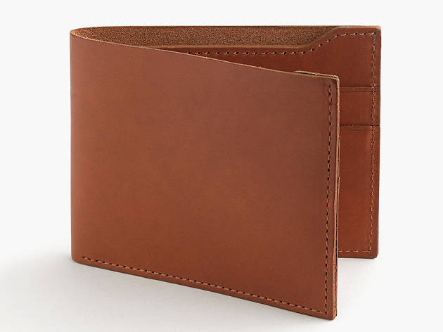 Leather billfold wallet from J. Crew