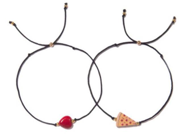 Have a Pizza My Heart bracelet set from Vanessa Arizaga