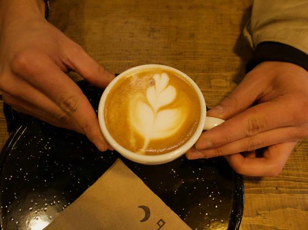 Flat white de espresso de media noche