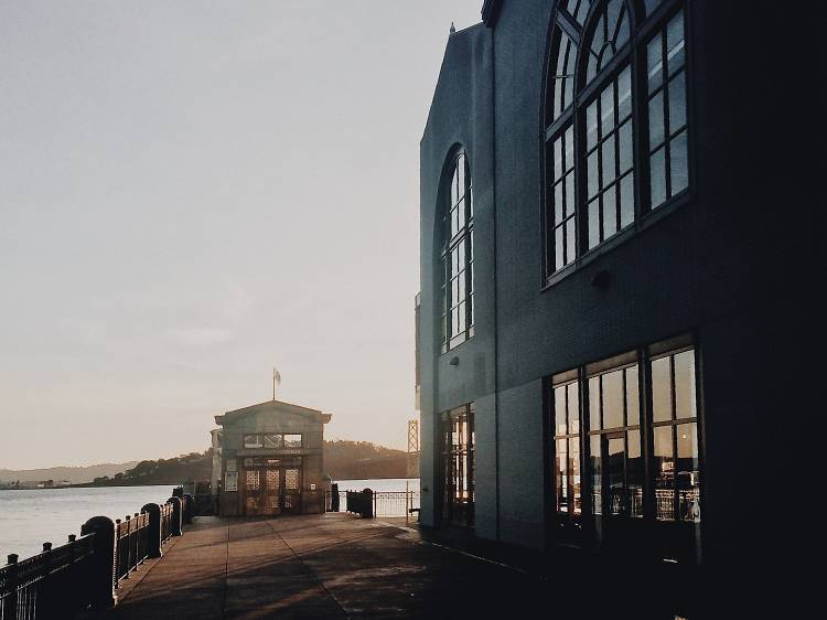 The Ferry Building at sunrise