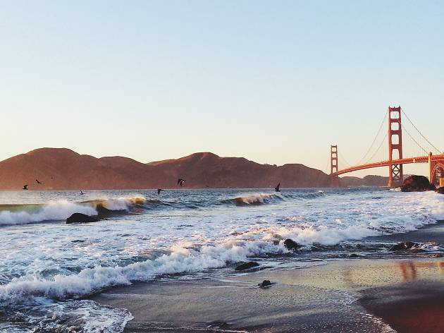 View of the Golden Gate Bridge from Baker Beach