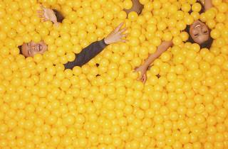 Yellow ball pit at The Color Factory