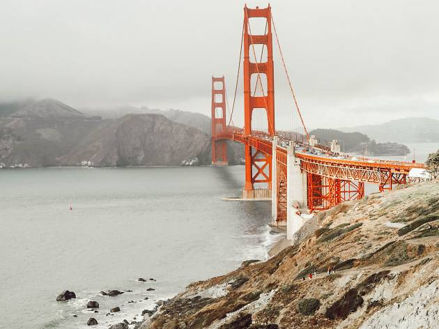 View of the Golden Gate Bridge from Lands End