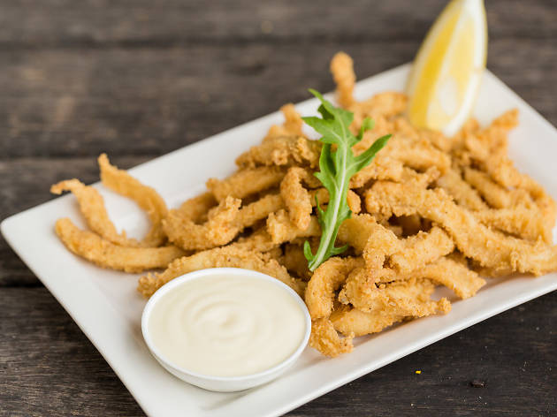 Salt and pepper squid at the Fishmonger wife