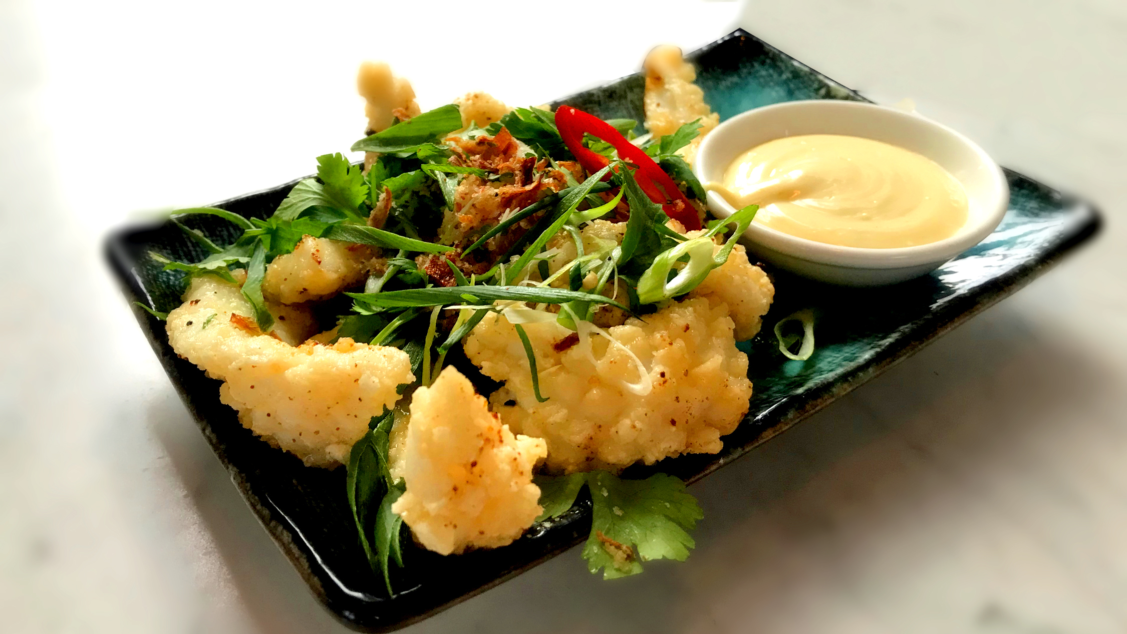 Salt and pepper squid at the Longueville Hotel