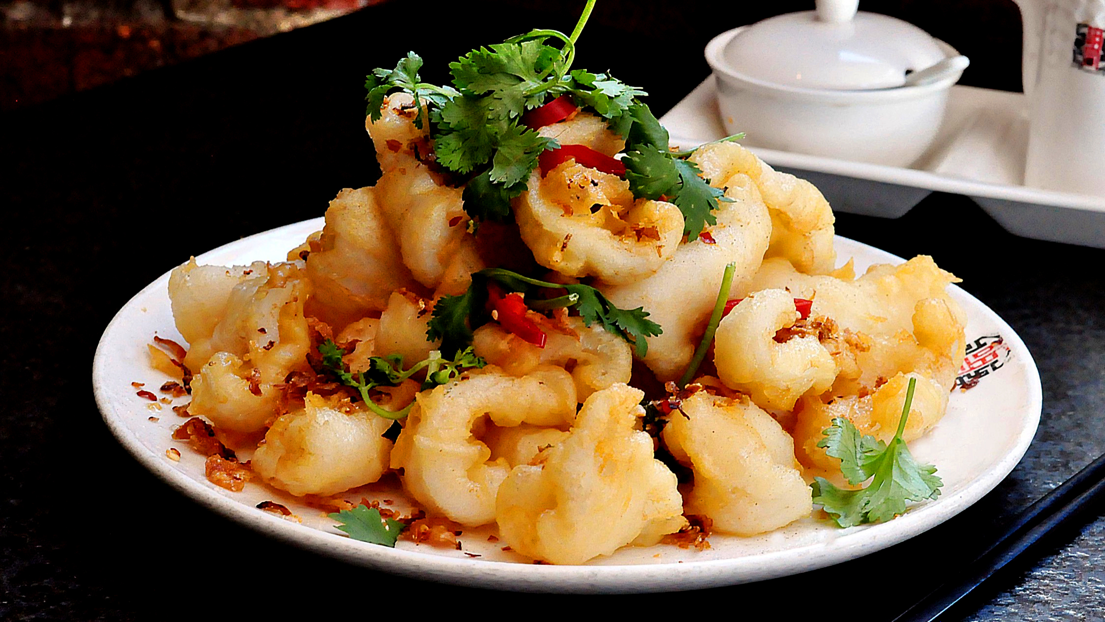 Salt and pepper squid at HuTong