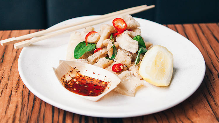 Salt and pepper squid at Chin Chin