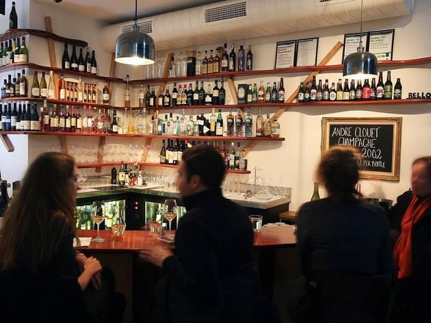 People sitting inside at Bellota Wine Bar