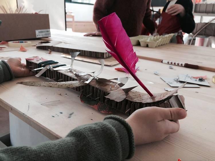 Descobrir materiais improváveis na Ohficina