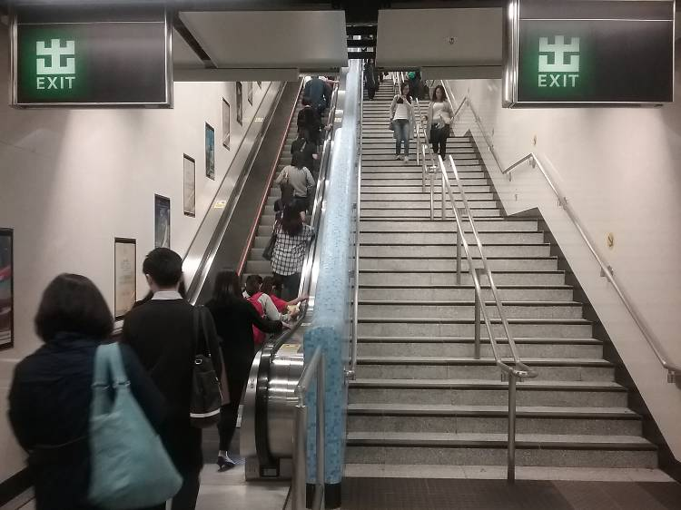 People who stand on the left of the escalator