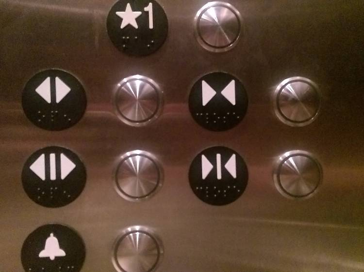 People who stand next to the close button in the elevator and don't press it