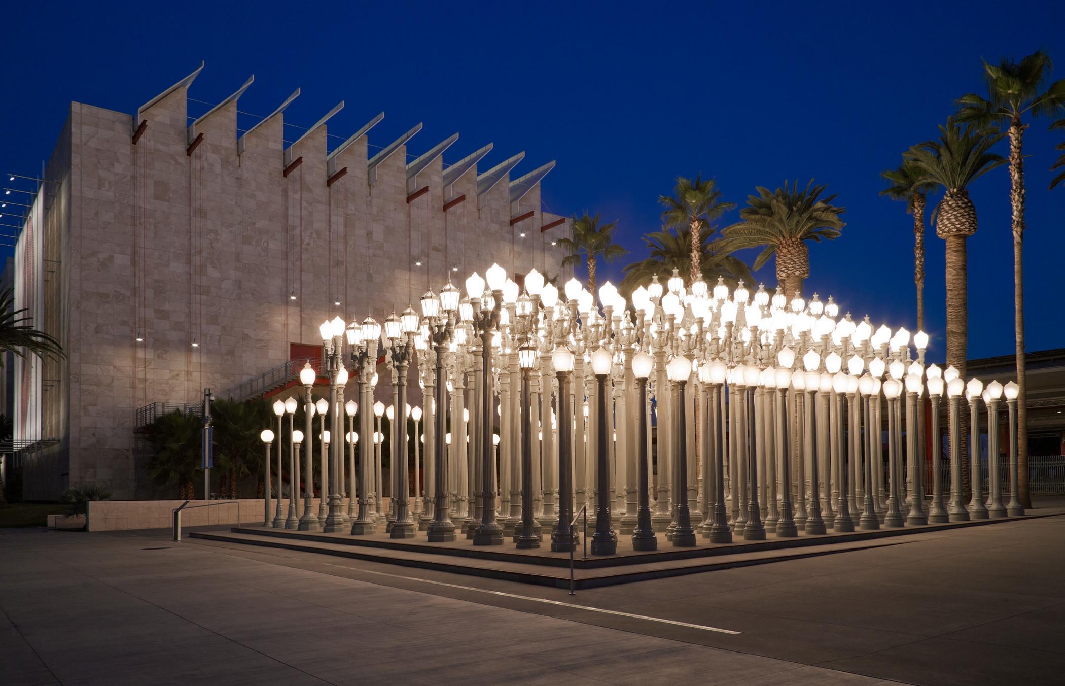 """Urban Light"" at LACMA"