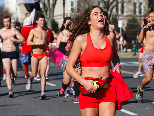 Scenes from Cupids Undie Run in Philadelphia