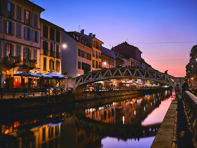 Go for a night out in the Navigli District