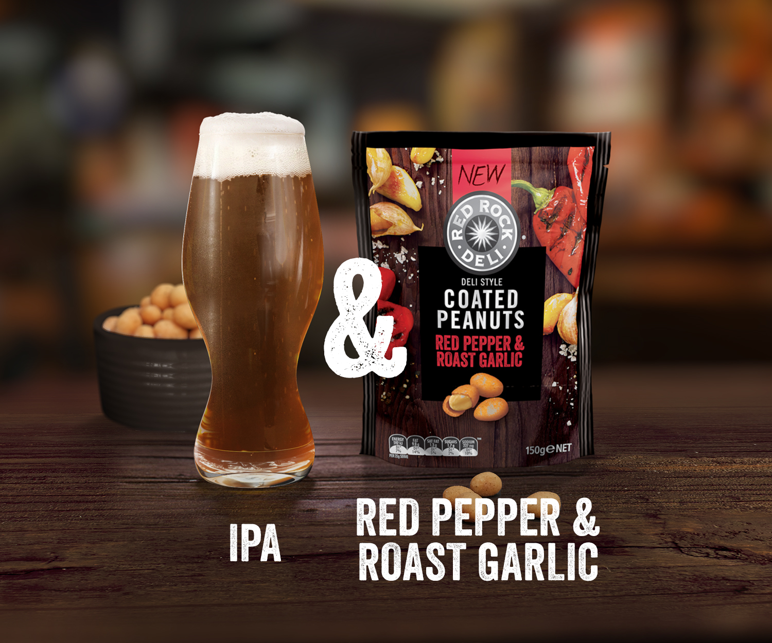 Red Rock Deli beer and nuts red pepper - commercial