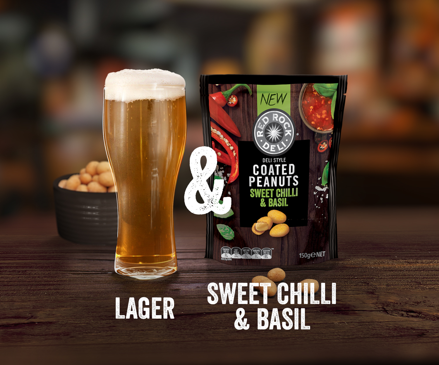 Red Rock Deli beer and nuts sweet chilli - commercial