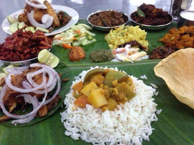 Appu Uncle Curry House banana leaf buffet
