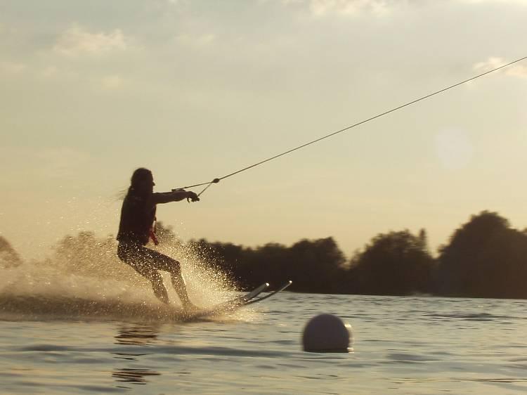 Go waterskiing