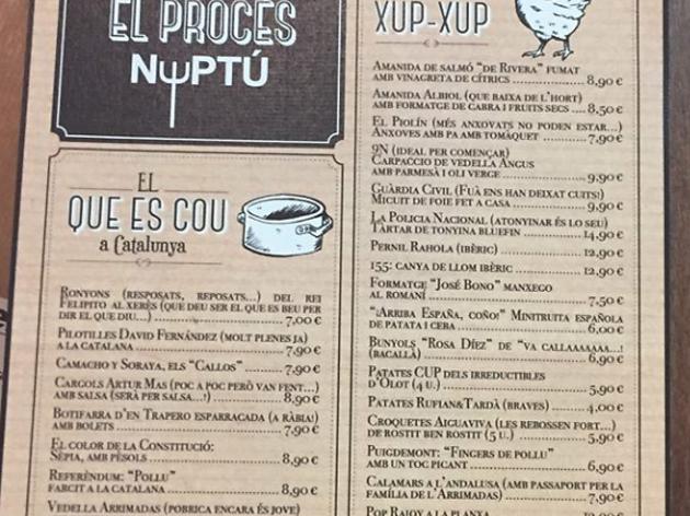 Un restaurant dedicat al Procés