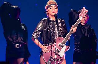 Lady Gaga in concert, Detroit, Michigan, press 2018