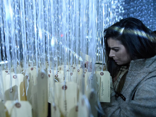 A new interactive installation in NYC asks you to reflect on mortality with strings and toe tags