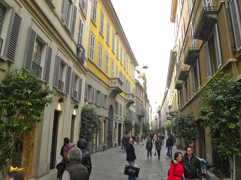Window shop in Milan's 'golden triangle'