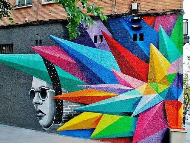 Admire street art and graffiti in Madrid