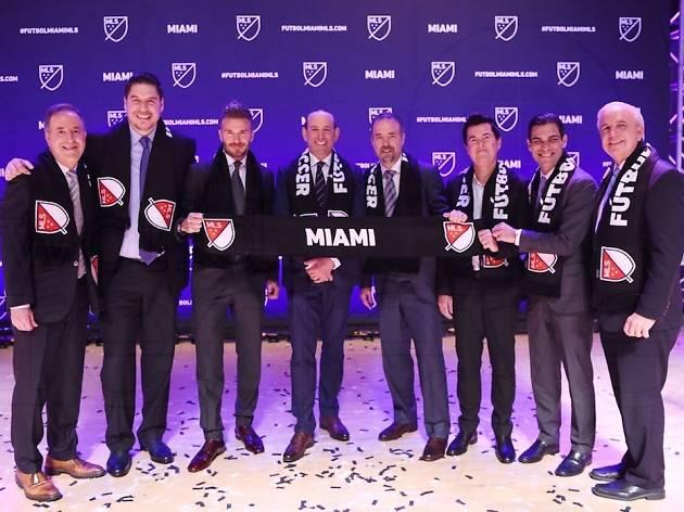a6f6ee4b15250 David Beckham celebrated Miami s MLS announcement at an Irish pub in ...