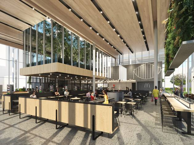 A sleek new McDonald's is replacing the chain's former Rock 'n' Roll restaurant